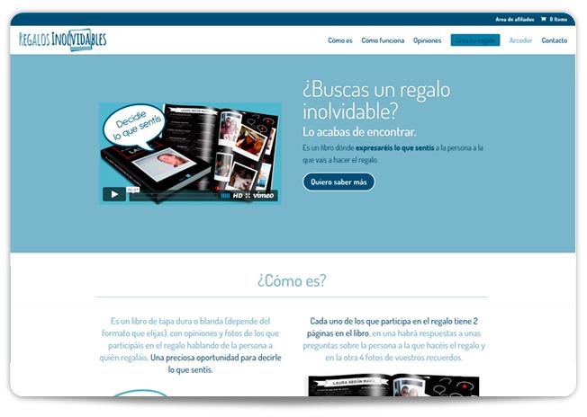 Nuevo proyecto online: Regalos inolvidables